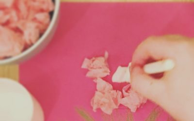 tissue paper hyacinths